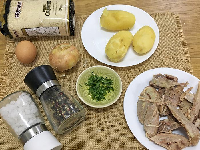ingredientes croquetas de pollo sin bechamel