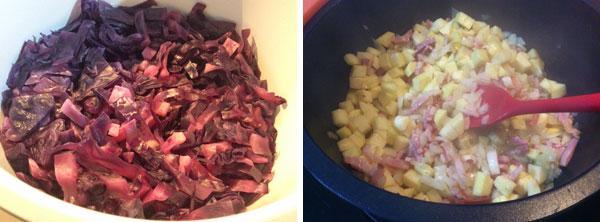 receta de lombarda con manzanas