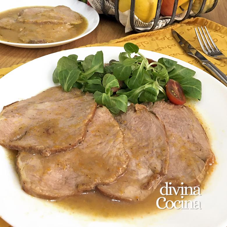 lomo de cerdo asado al horno