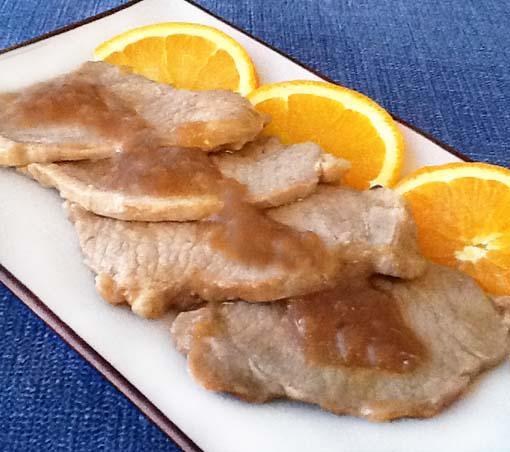 lomo de cerdo a la naranja