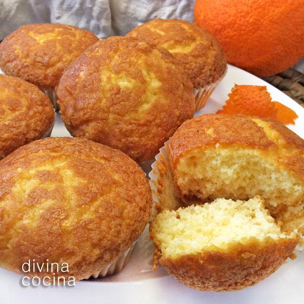 Magdalenas de naranja