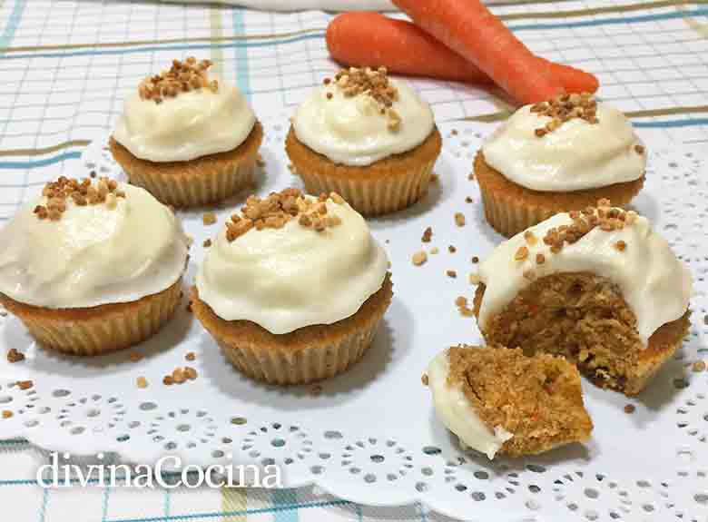 receta de magdalenas de zanahoria