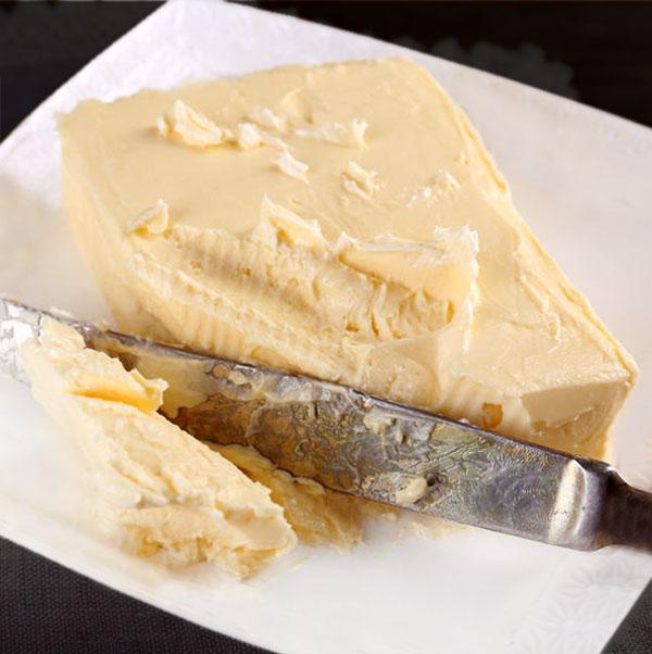 mantequilla casera fresca