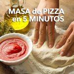 Masa de pizza rápida en 5 minutos