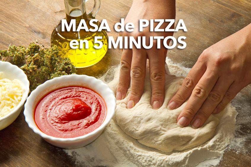 masa de pizza en 5 minutos