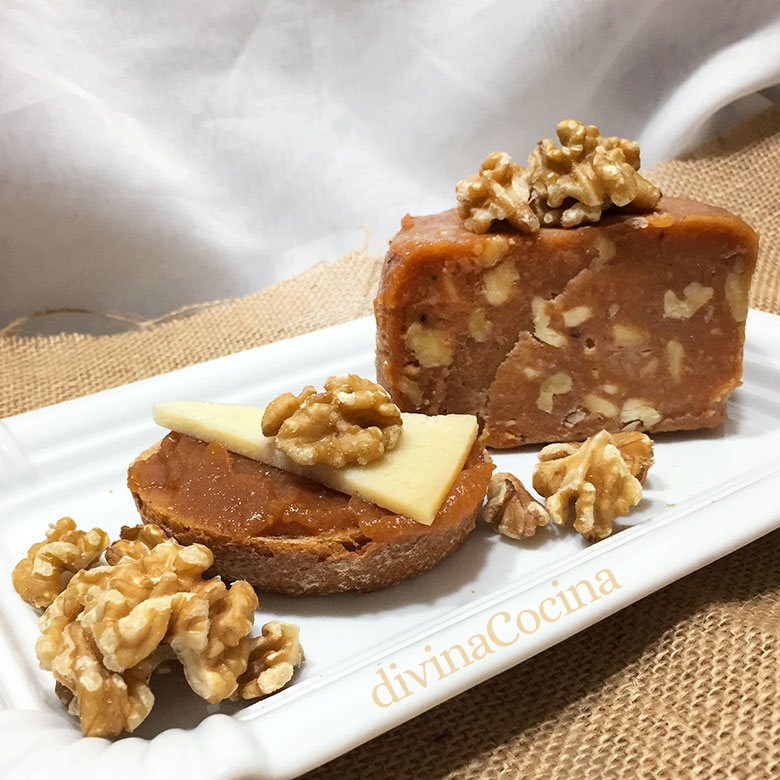 dulce de membrillo con nueces