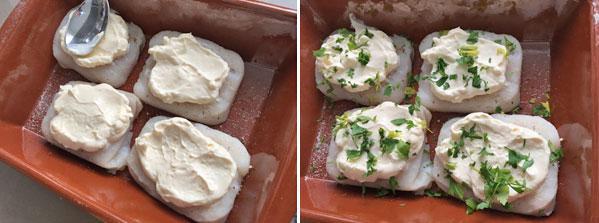 merluza al horno con mayonesa paso a paso