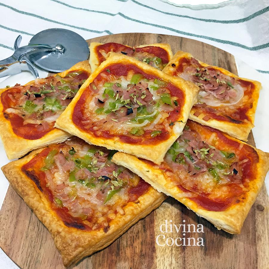Mini pizzas de hojaldre