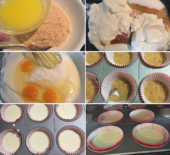 mini tartas de queso