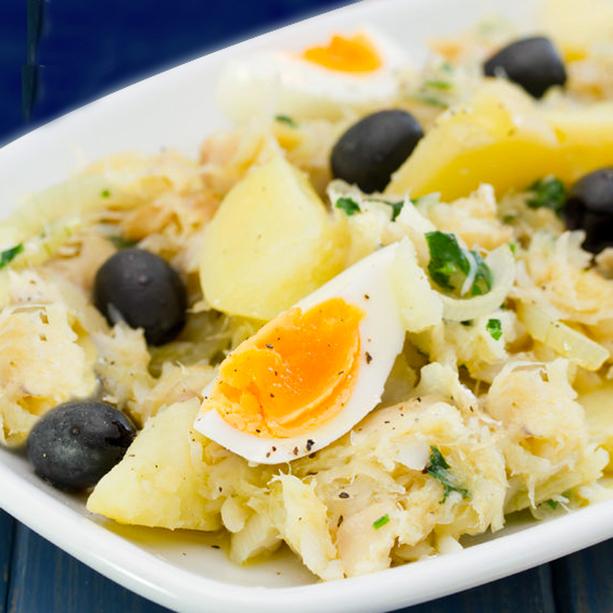 Receta de mojete de bacalao y cebolleta divina cocina - Cocinar bacalao desalado ...