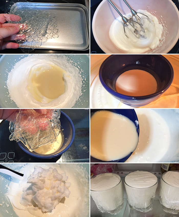 mousse de leche condensada