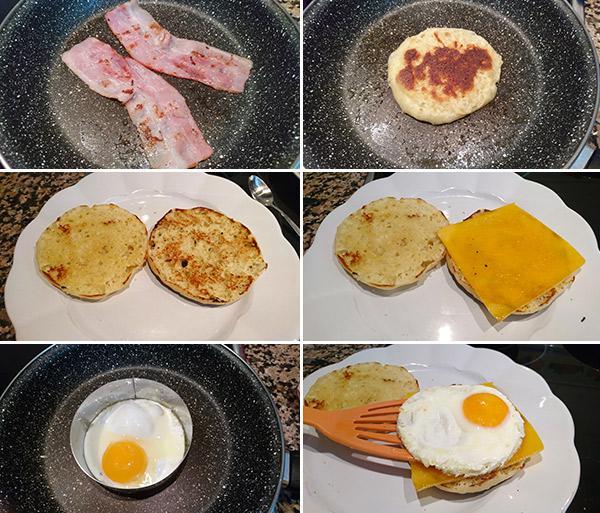muffin de huevo paso a paso