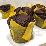 Muffins de chocolate negro al estilo americano