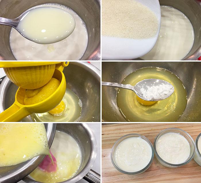 natillas limon leche condensada paso a paso