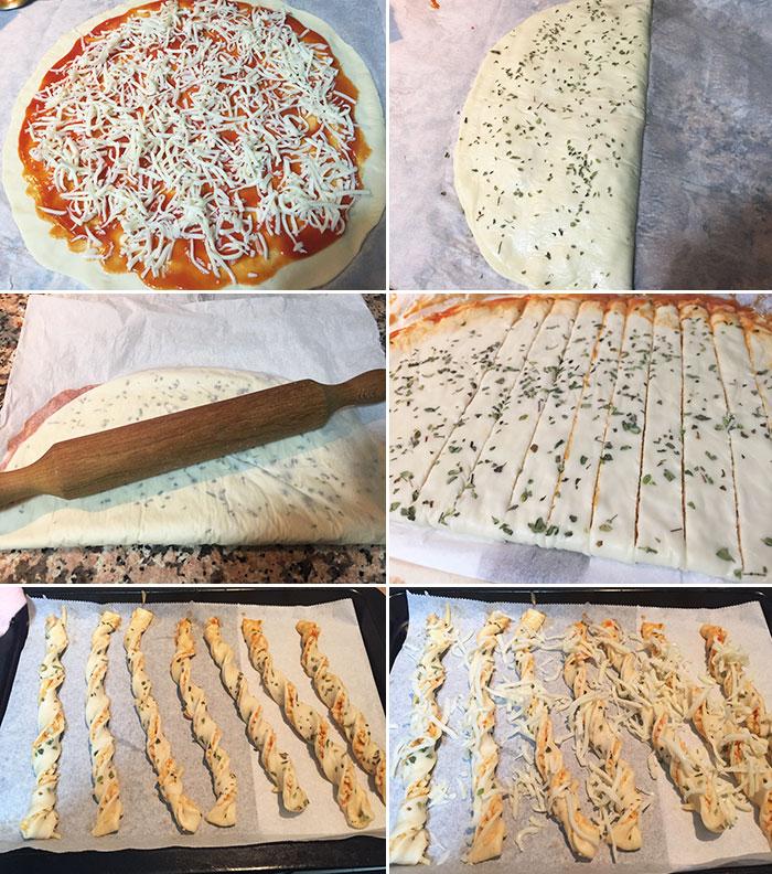 palitos de pizza paso a paso