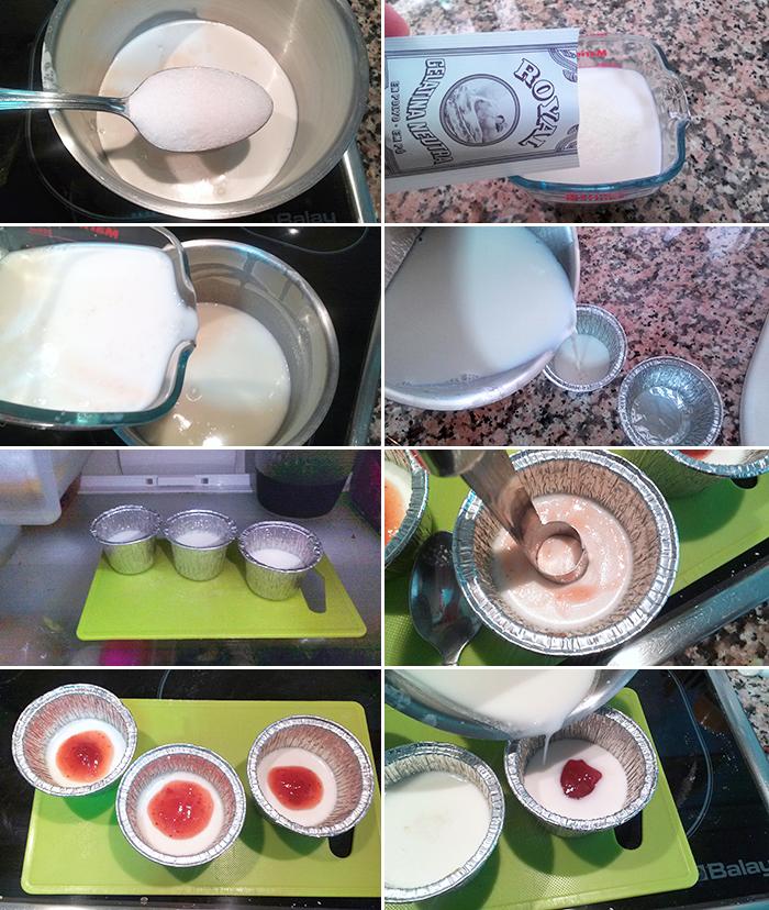 panna cotta yogur paso a paso