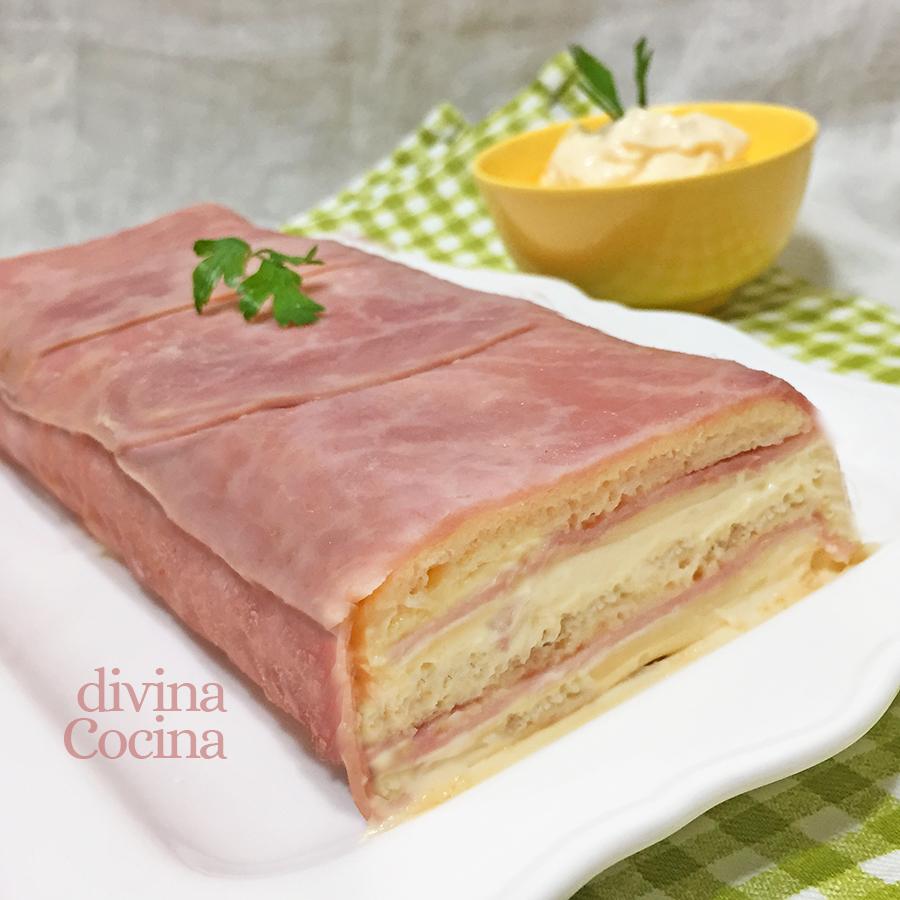 receta de pastel de jamon y queso al horno