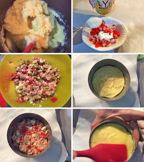receta de pastel de patata y atun