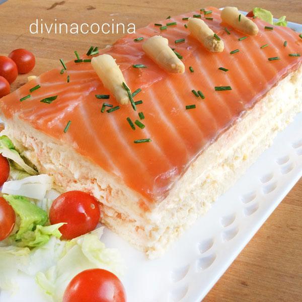 receta de pastel de salmon y esparragos