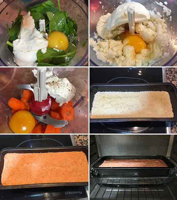 pastel de verduras por capas paso a paso