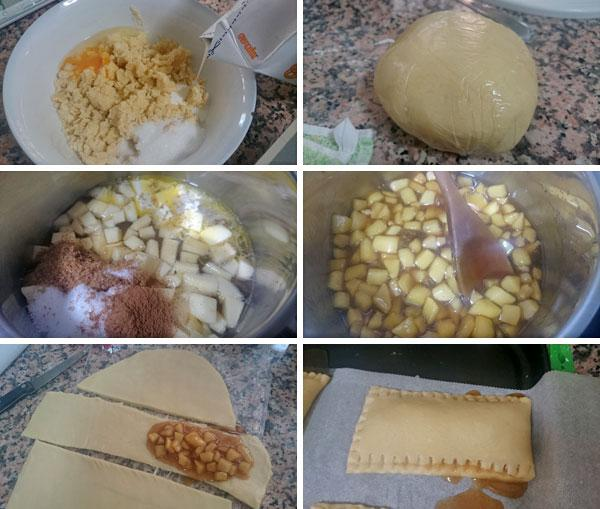 pastel de manzana estilo mcdonalds paso a paso