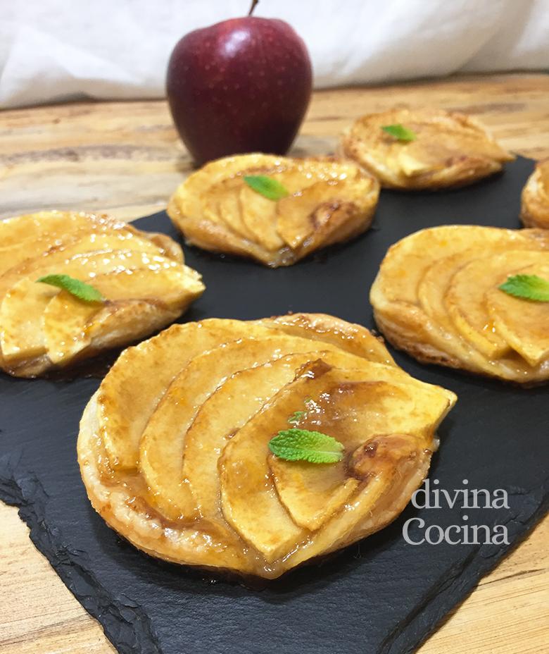 pasteles de manzana y hojaldre faciles