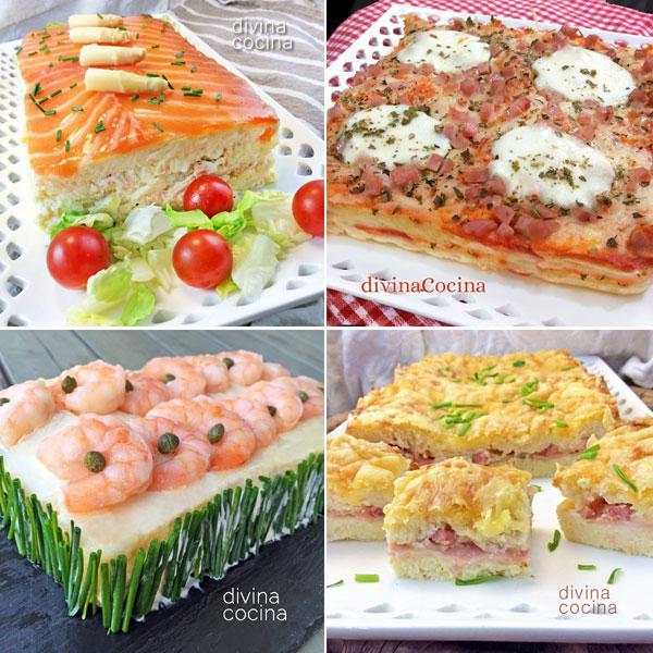 Recetas de pasteles f ciles de pan de molde divina cocina - Variedad de canapes frios ...