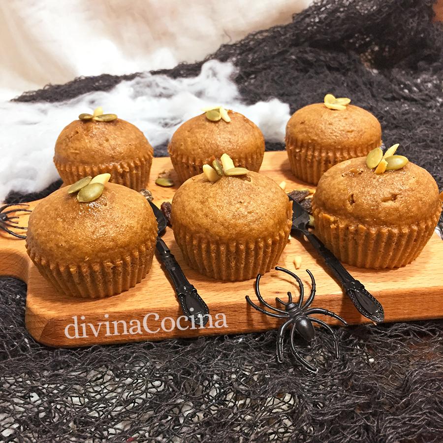 pastelillos de calabaza y frutos secos