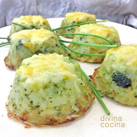 pastelillos de patata y brócoli