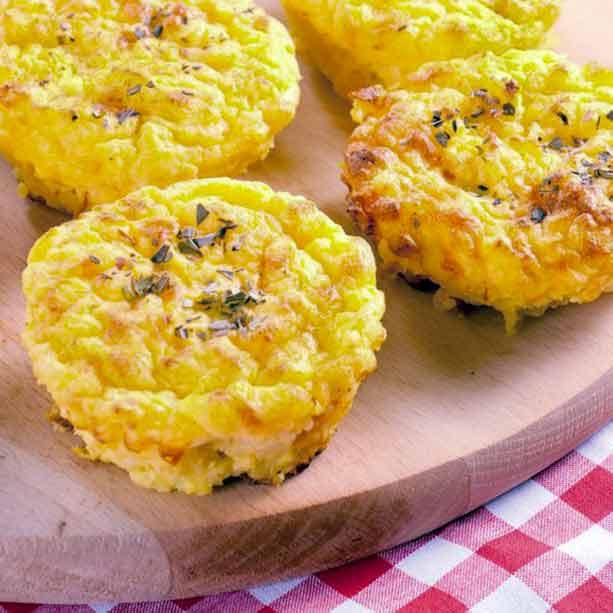 Pastelillos de patata y puerros