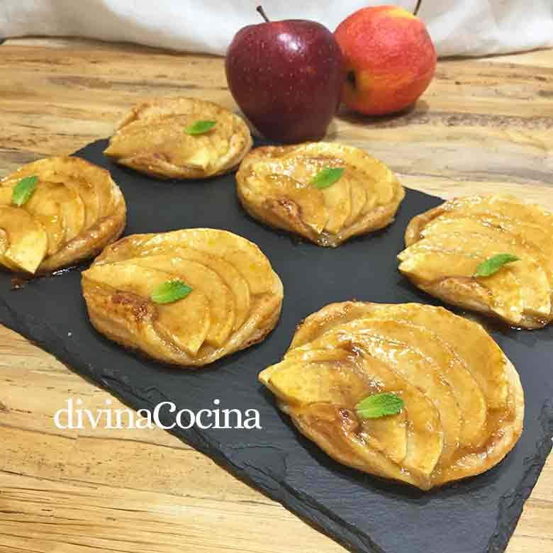 receta pasteles de manzana y hojaldre