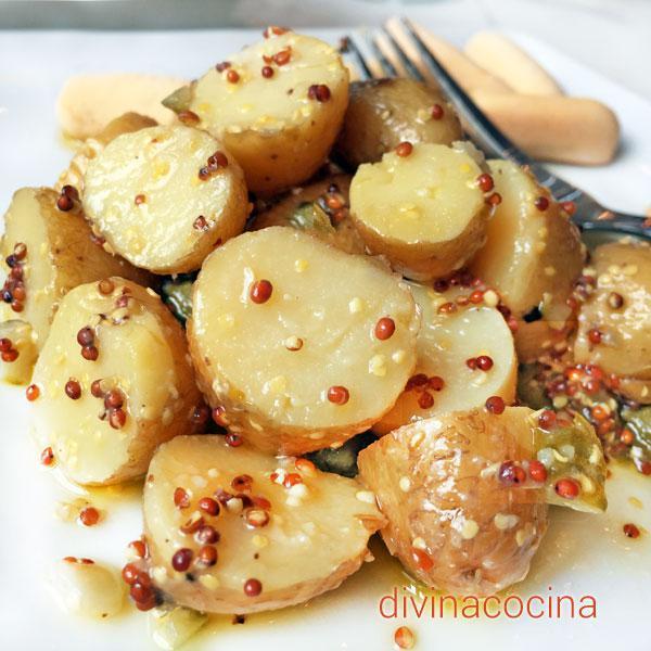 ensalada de patatas a la mostaza