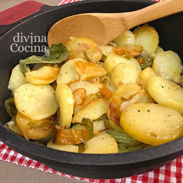 patatas a lo pobre cazuela 7