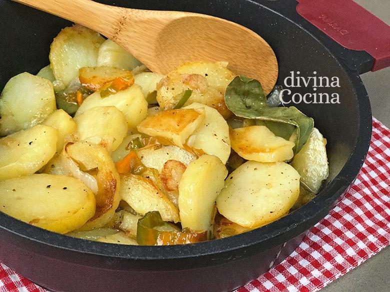 patatas a lo pobre cazuela F