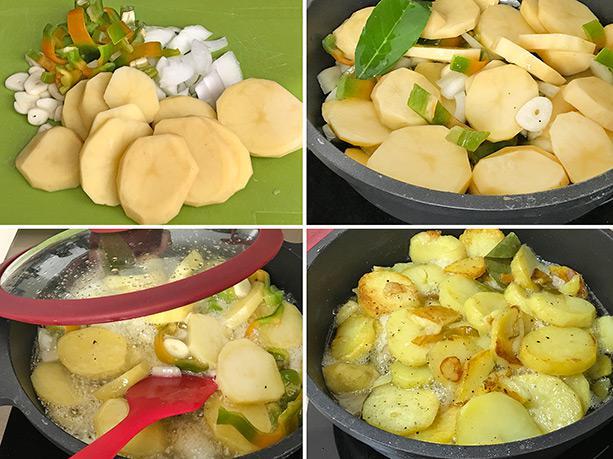 patatas a lo pobre paso a paso