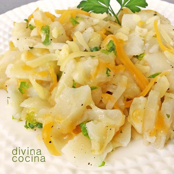 patatas al queso