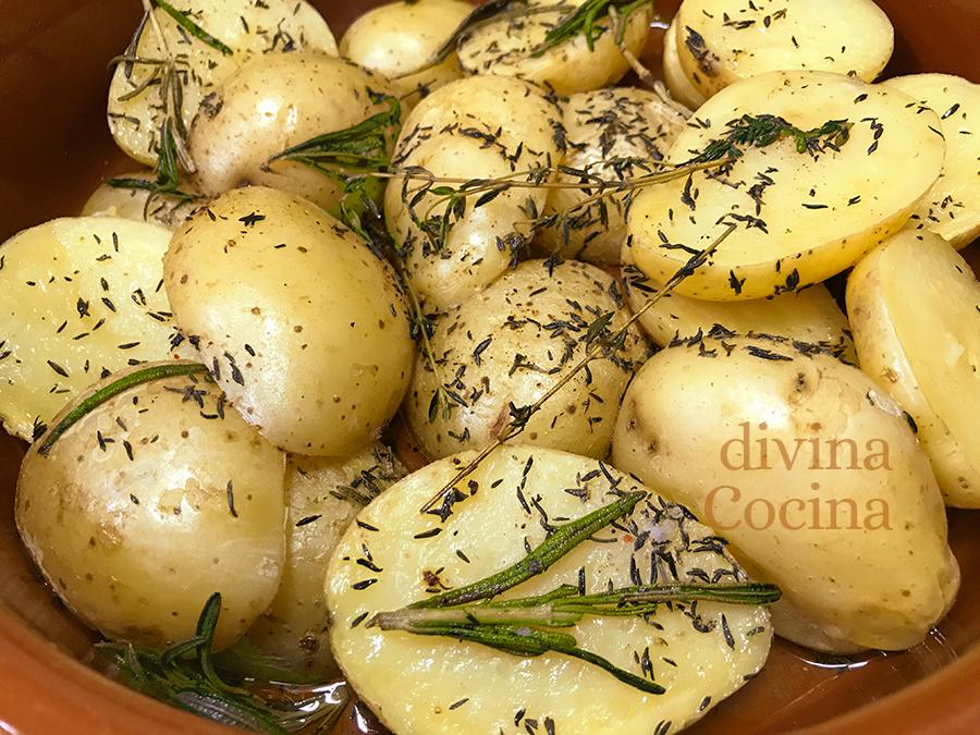 receta de patatas a la provenzal en microondas