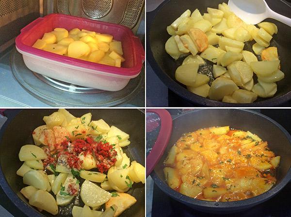 patatas en colorao paso a paso
