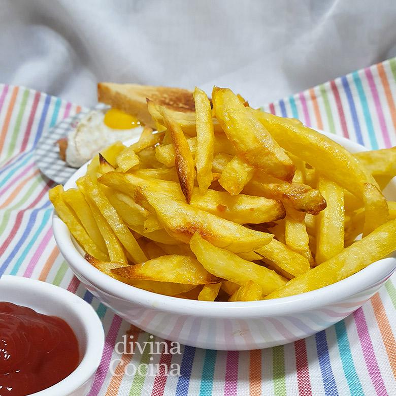 patatas fritas en el horno