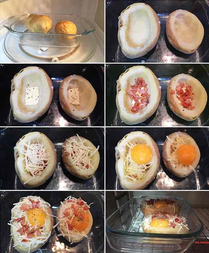 patatas rellenas de huevo