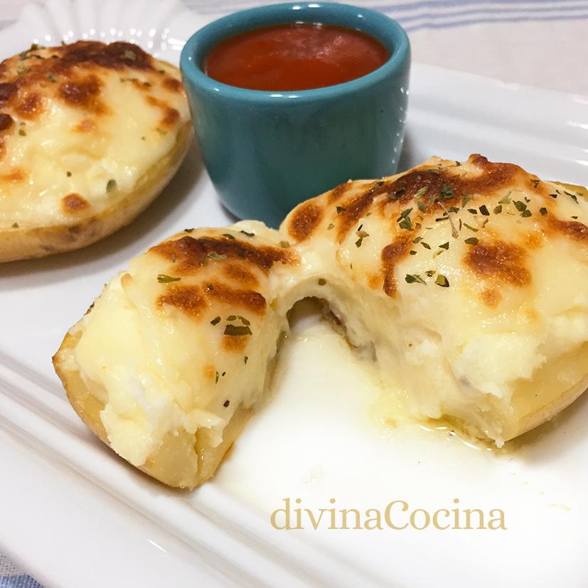 patatas rellenas de queso detalle