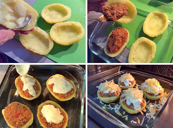 patatas rellenas de carne al horno paso a paso