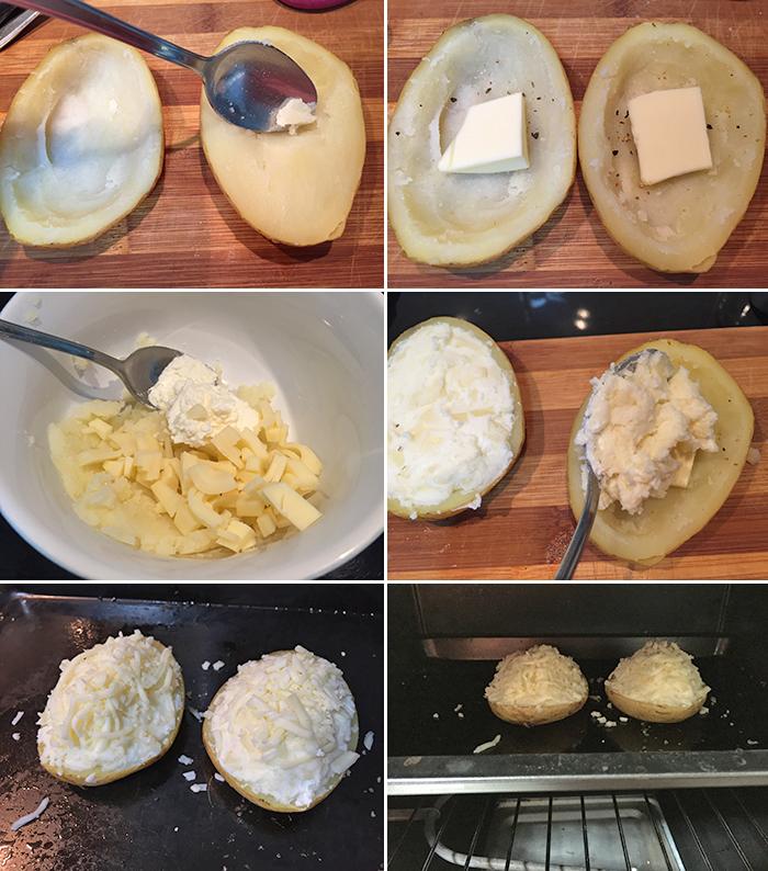 patatas rellenas de queso paso a paso