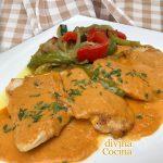 Filetes de pollo con salsa gaucha