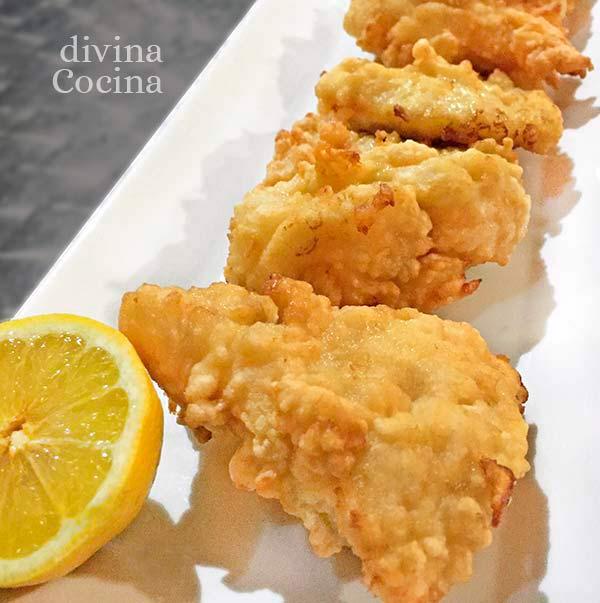 pescado en tempura