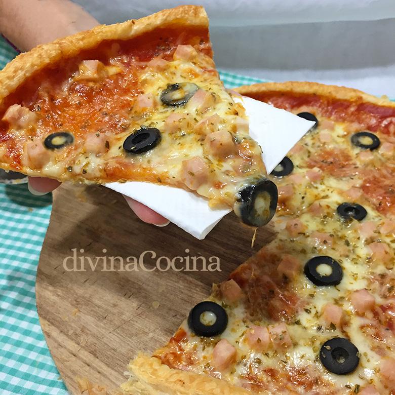 pizza masa de hojaldre