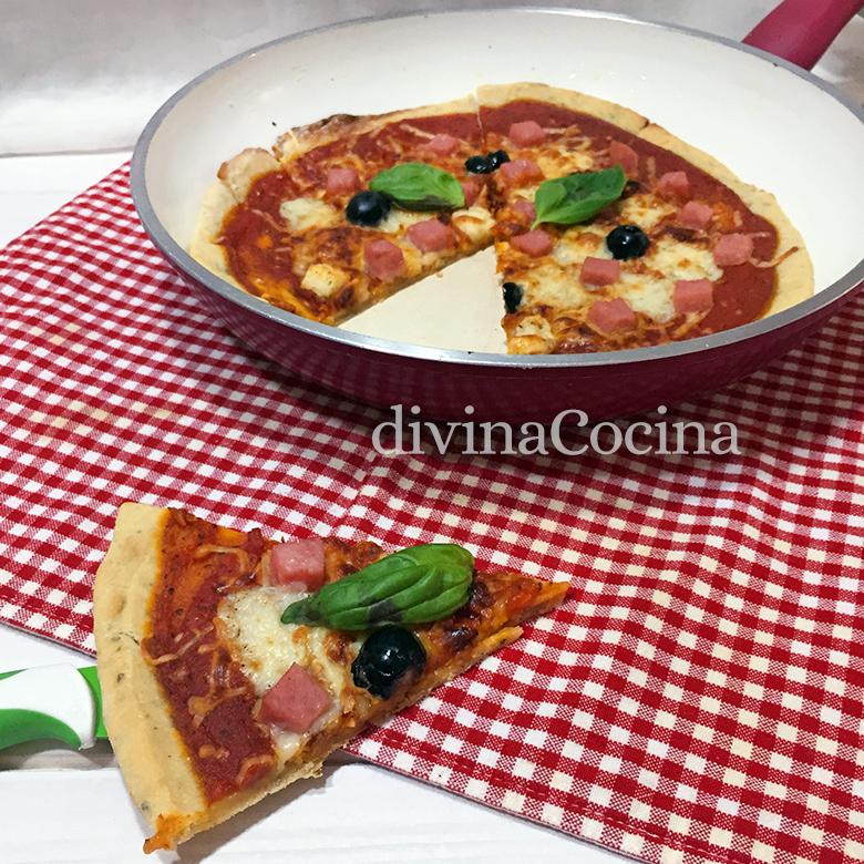 pizza sin horno en sarten 2