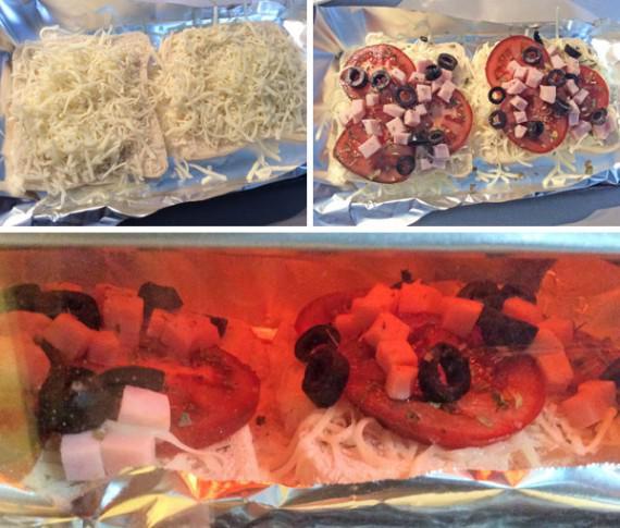 pizzas rápidas en pan de molde