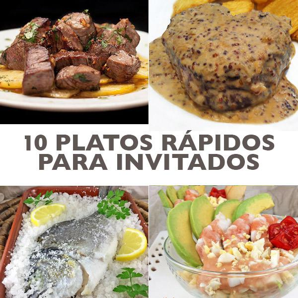 10 platos de fiesta rápidos