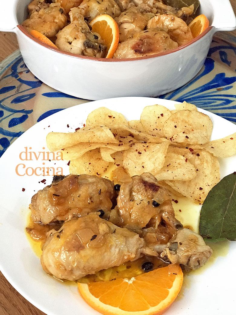 Divina La Cocina | Receta De Pollo Guisado A La Naranja Divina Cocina
